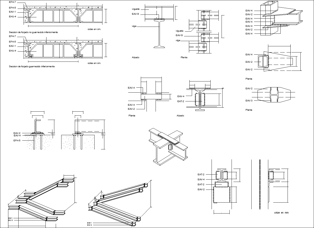 Steel structure details v1 cad drawings download cad for Steel building plans drawings