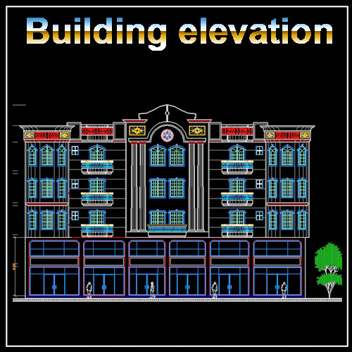 Building Elevation Cad Drawings Download Cad Blocks Urban