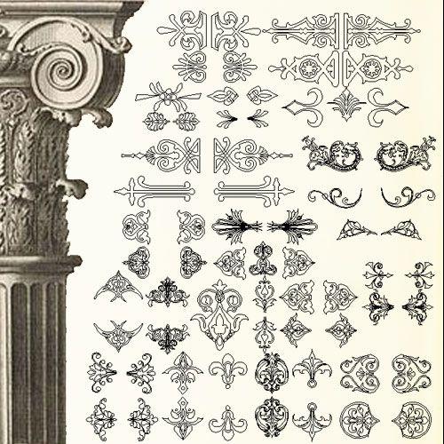 ☆【Ornamental Parts V5】-Cad Drawings Download|CAD Blocks