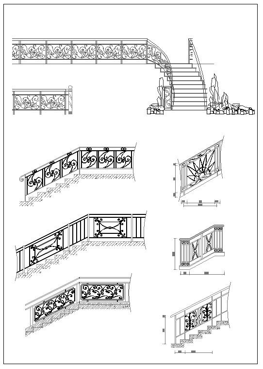 ☆【Stair Design】-Cad Drawings Download|CAD Blocks|Urban