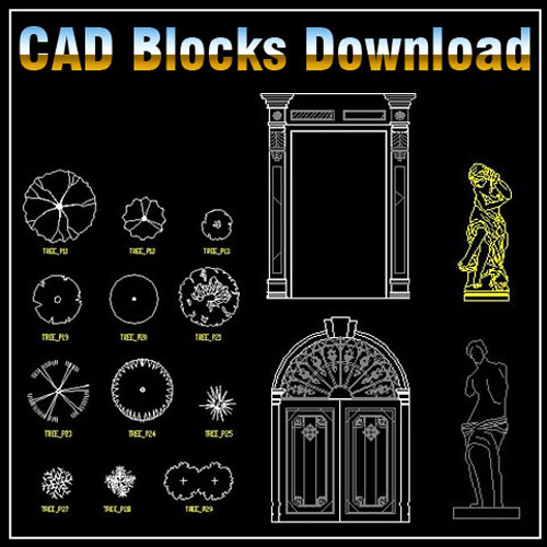 ☆【Landscape Design 2D Blocks】-Cad Drawings Download|CAD