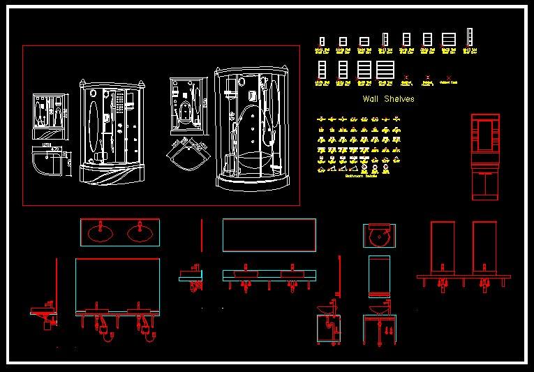 Cad library autocad blocks amp drawings bathroom blocks