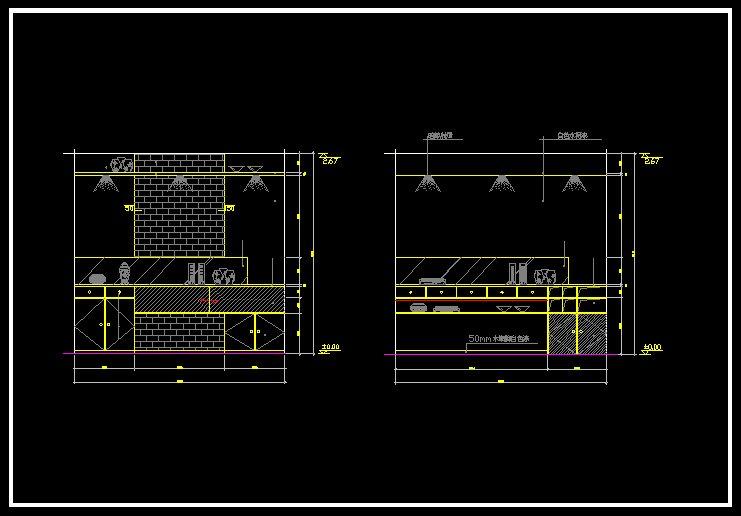 Restaurant design template v 】 cad drawings download