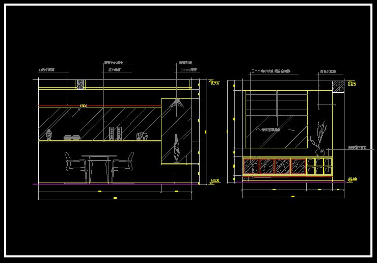 Restaurant design template v 】 cad drawings download