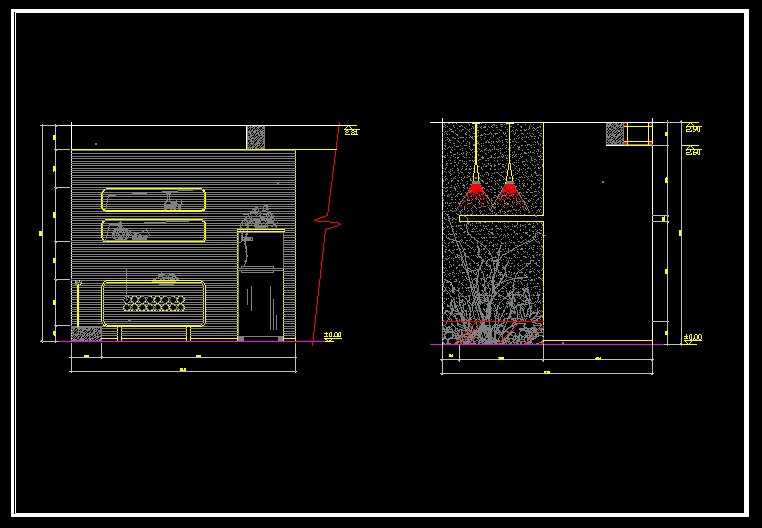 Luxury Restaurant Design Template V 2】 Cad Drawings