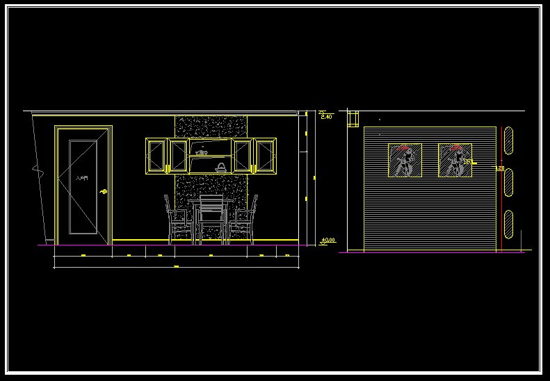 Luxury restaurant design template v 】 cad drawings