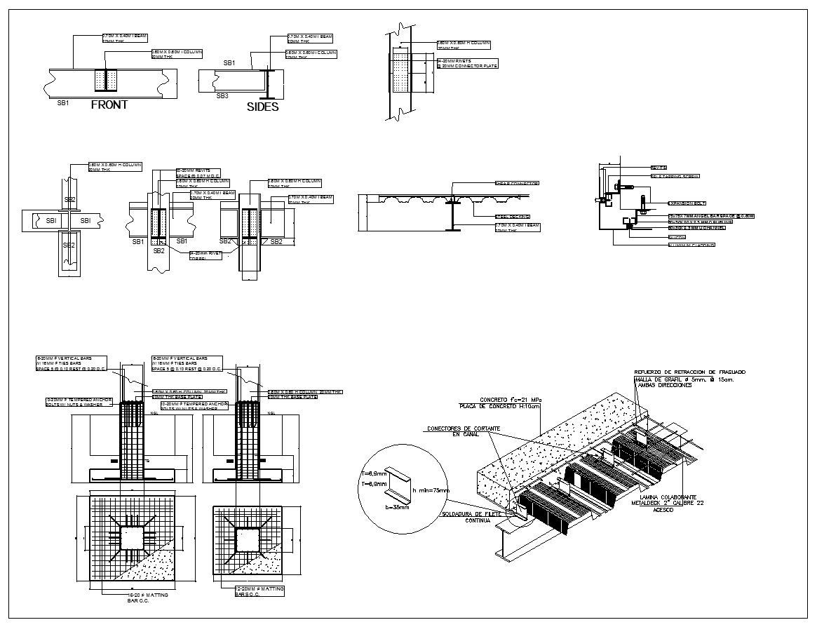 Steel structure details v2 cad drawings download cad Building structural design software free download