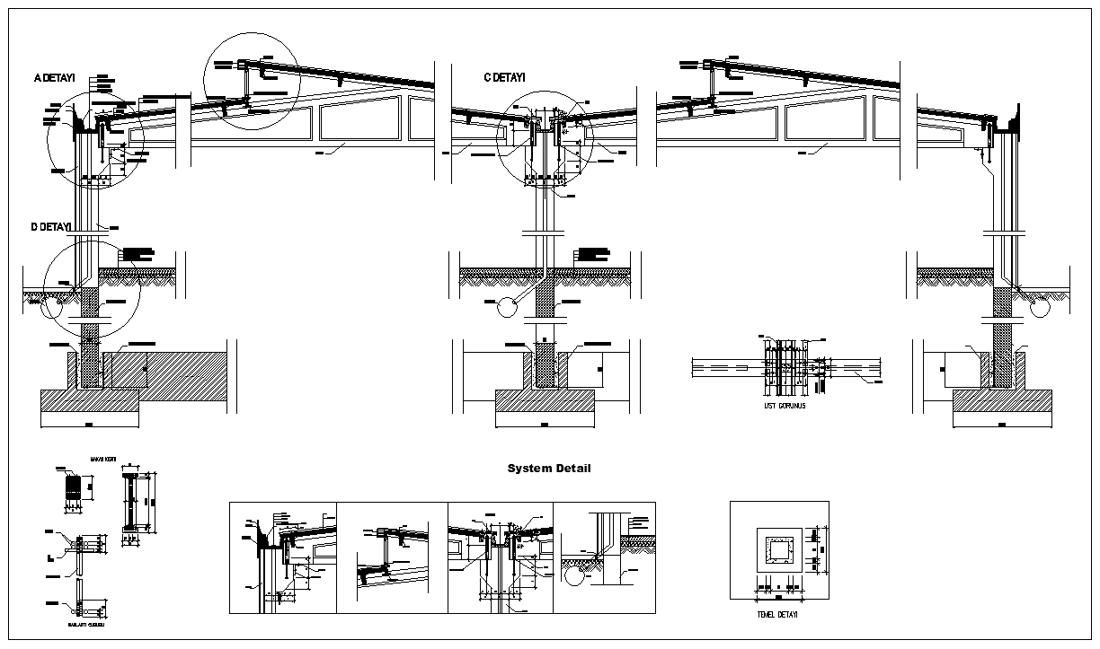 Steel structure details v2 cad files dwg files plans for Steel building plans drawings