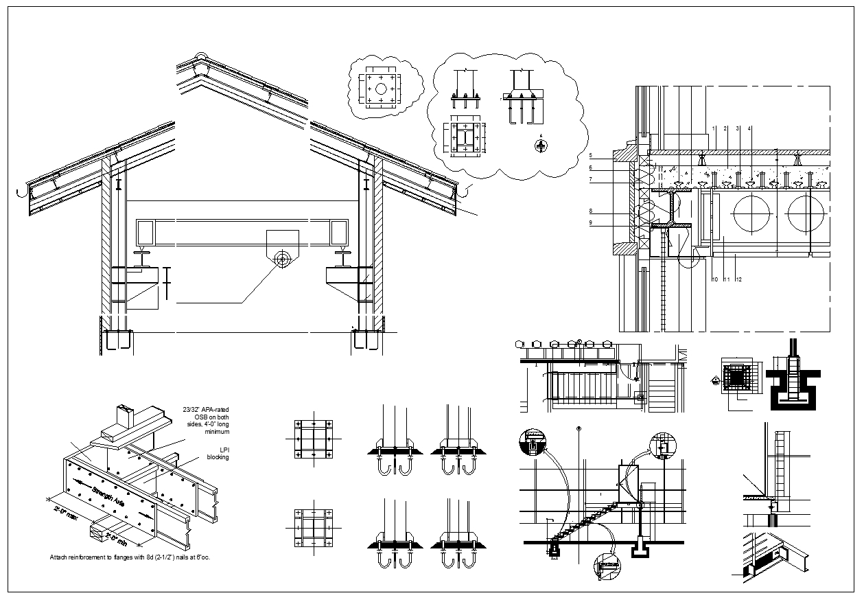 Steel Structure Details V3 Cad Files Dwg Files Plans
