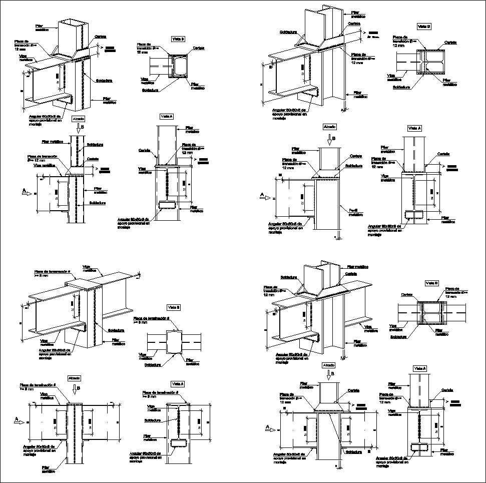Steel Structure Details V4】★ Cad Files Dwg Files Plans