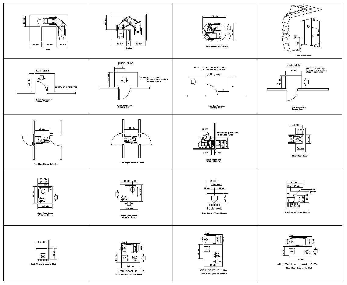Accessibility facilities,blocks,details,design