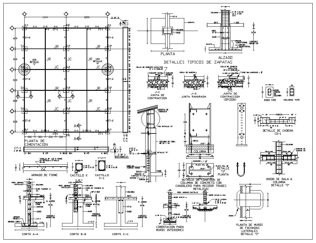 Foundation Details V1】★ Cad Files Dwg Files Plans And