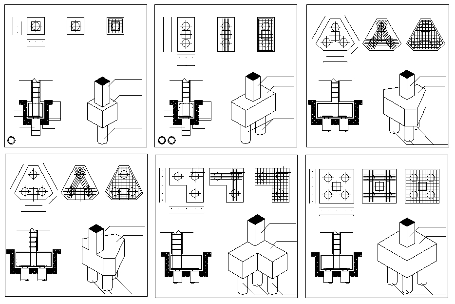 Pile Foundation Drawing : Foundation details v 】★ cad files dwg plans and