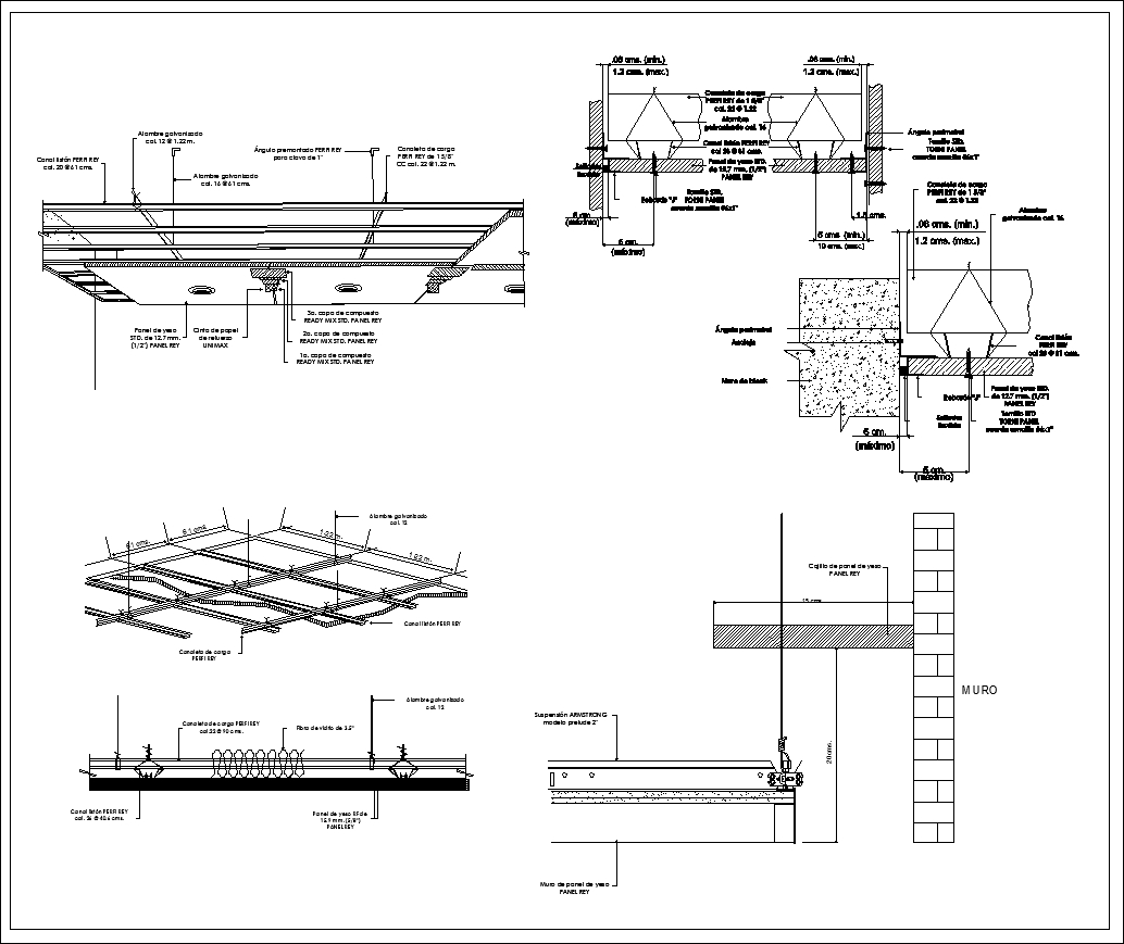 Ceiling Details V2】★ Cad Files Dwg Files Plans And