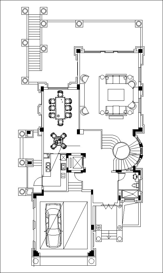 Luxury Villa Plans 6 Cad Files Dwg Files Plans And