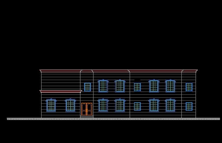 Building Elevations Cad : Building elevation 】★ cad files dwg plans and