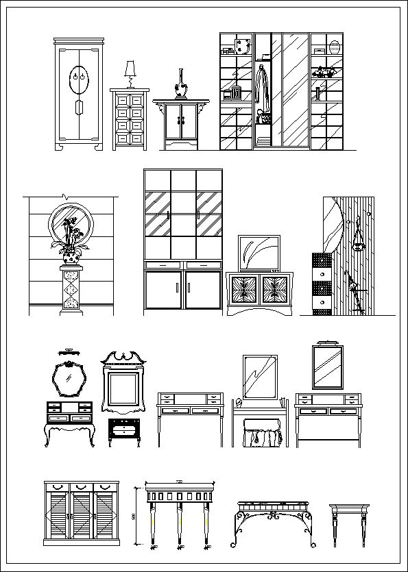 Furniture design elevation】★ cad files dwg plans