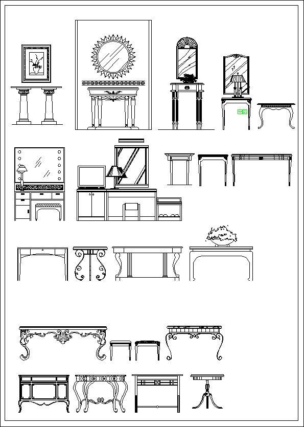 Furniture elevation  Sofa elevation Chair elevation Cabinet  elevation Appliances Library CAD. Furniture design elevation     CAD Files  DWG files  Plans