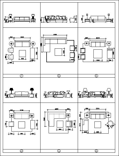 Best Sofa Blocks And Elevation】★ Cad Files Dwg