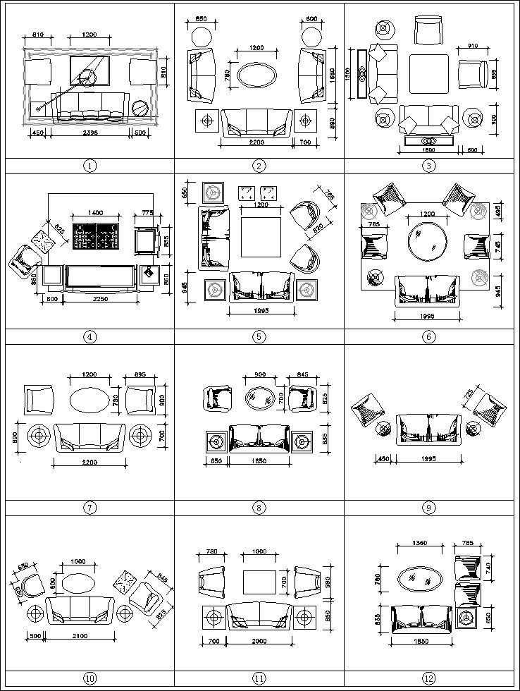 Best Sofa Blocks And Elevation】★ Cad Files Dwg Files