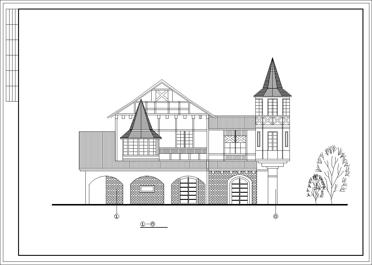 Dream French Town plan,elevation,details drawings
