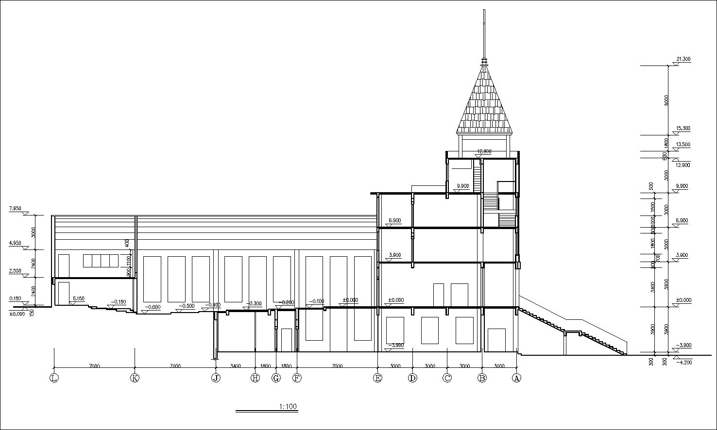 Church Elevation Plan : Church drawings v 】 cad download blocks urban