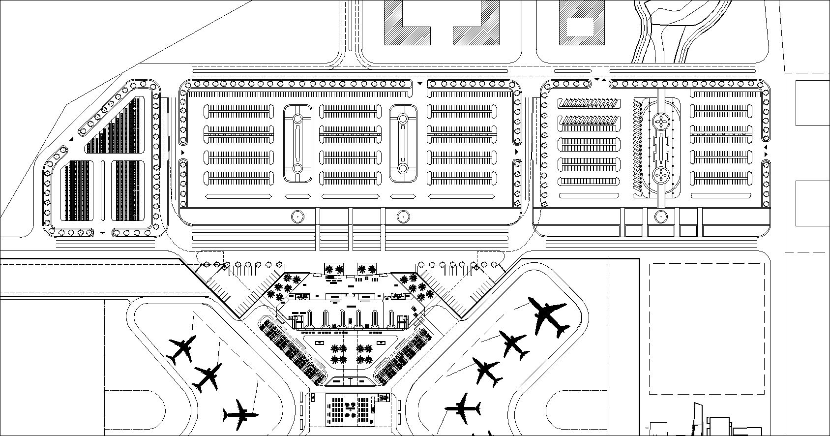 Airport plan,Terminal plan,elevation,details drawings