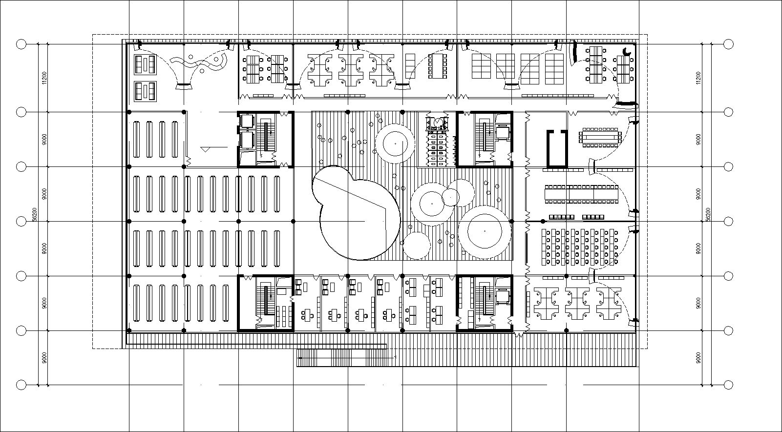 Library Floor Plans and Drawings-Elevations, Floor Plans, and Details